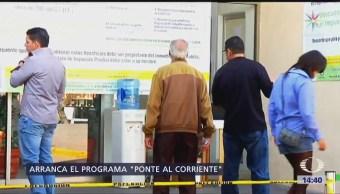 Gobierno de la CDMX pone en marcha el programa 'Ponte al corriente'