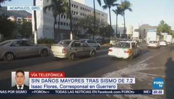 Guerrero no emite alerta de tsunami tras sismo de 7.2 grados