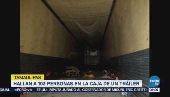 Hallan 103 Migrantes Viajaban Caja Tráiler Tamaulipas