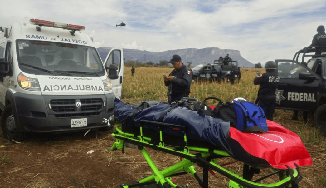 Cae helicóptero de la Policía Federal en Jalisco