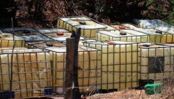 Aseguran 52 mil litros de hidrocarburo en municipios de Jalisco