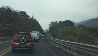 Cierre total de la Autopista La pera-Cuautla, debido a accidente