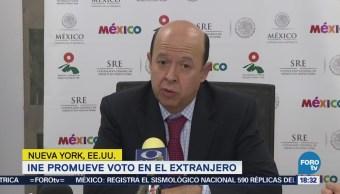 INE promueve voto en el extranjero