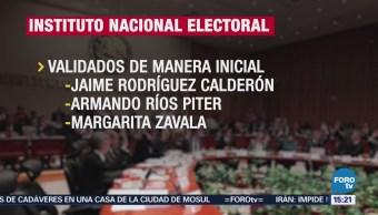 INE valida firmas de tres aspirantes independientes a la Presidencia