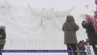 Inicia festival de esculturas de hielo en Japón