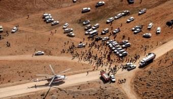 Recuperan 32 cadáveres del lugar de avionazo en Irán