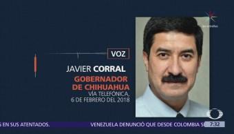 Javier Corral afirma que César Duarte fue visto en Nuevo Mexico, EU