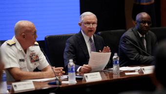Jeff Sessions en cumbre sobre opiáceos. (AP)