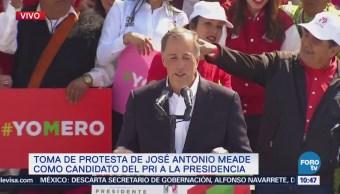 José Antonio Meade Toma Protesta Como Candidato Pri