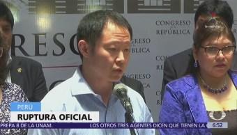 Kenji Fujimori renuncia al partido político Fuerza Popular