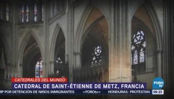 La catedral de Saint- Etienne de Metz en Francia