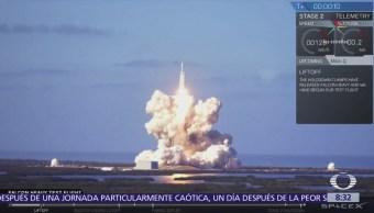 Lanzan el cohete Falcon Heavy, el más poderoso en activo del mundo