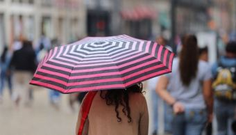 Se registra fuerte lluvia en zona centro de la CDMX