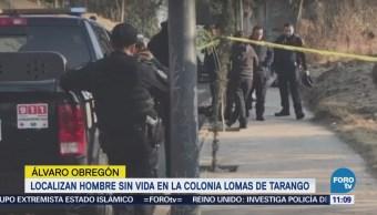 Localizan Hombre Sin Vida Delegación Álvaro Obregón
