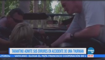 #LoEspectaculardeME: Tarantino admite sus errores en accidente de Uma Thurman