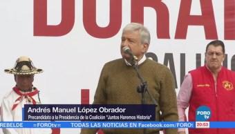 López Obrador tuvo actividades en Durango