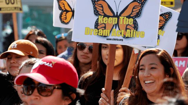Manifestación a favor de los dreamers en Los Ángeles