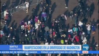 Manifestaciones en la Universidad de Washington