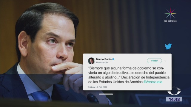 Marco Rubio se pronuncia a favor de golpe de Estado en Venezuela