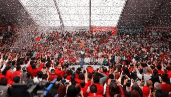 Meade concluye precampaña en Tlalnepantla, Estado de México