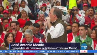 Meade concluye precampaña en Tlalnepantla