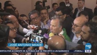 Meade rinde protesta como candidato del PVEM