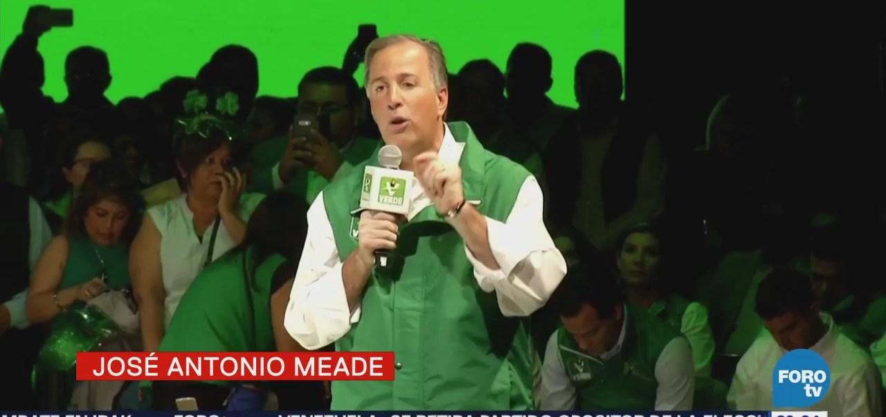 Meade rinde protesta como candidato presidencial del PVEM