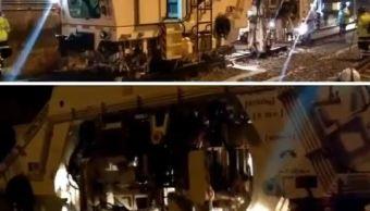 Metro corrige daños en vías ocasionados por sismo