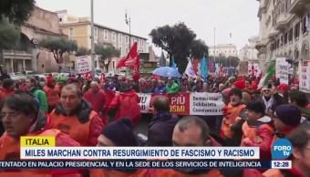 Miles Marchan Italia Contra Resurgimiento Fascistas Racistas