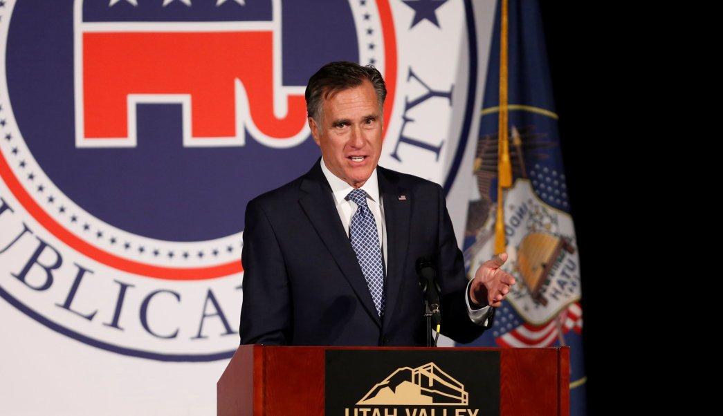 Trump respalda Mitt Romney candidatura Senado Estados Unidos