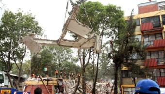 comienza demolición de edificio del multifamiliar tlalpan, colapsado en el 19-s