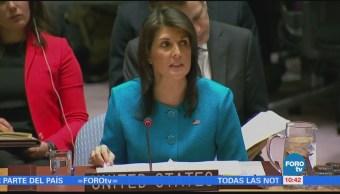 Nikki Haley pide a la ONU una Siria sin Assad
