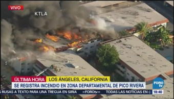 No hay lesionados por incendio en apartamentos de Los Ángeles