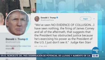 Trump Califica Caza Brujas Acusaciones Rusiagate
