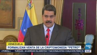 Formalizan Venta Criptomoneda Venezuela