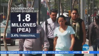 Desocupación México Cae 0.2% Anual Inegi