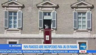 Papa Francisco abre inscripciones para JMJ en Panamá