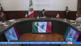 Peña Nieto se reúne con Freeland en Los Pinos