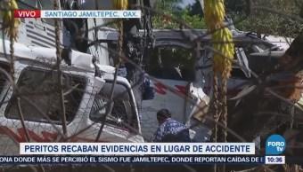 Peritos Recaban Evidencias Lugar Desplome Helicóptero Jamiltepec