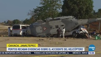 Peritos Recaban Evidencias Accidente Helicóptero Oaxaca