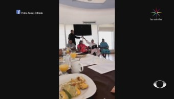 Perla Negra: Diputados de Chihuahua comen frente a indígenas rarámuris