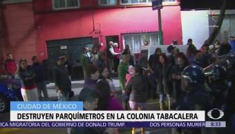 PGJCDMX busca a 10 personas por destruir parquímetros en la colonia Tabacalera