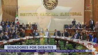 Pleno del Senado pide al INE revocar prohibición de debates en intercampañas