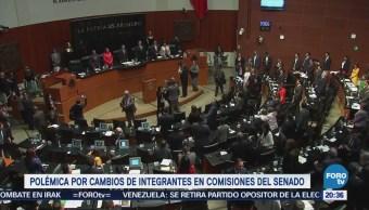Polémica por cambios de integrantes en comisiones del Senado