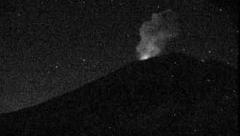 Popocatépetl registra exhalación de más de 1.5 kilómetros, esta madrugada