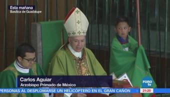 Primera misa en la Basílica como arzobispo primado de México