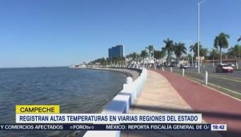 Pronostican altas temperaturas en Campeche