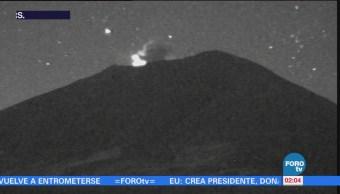 Protección Civil reporta exhalación de 1.5 kilómetros del Popocatépetl