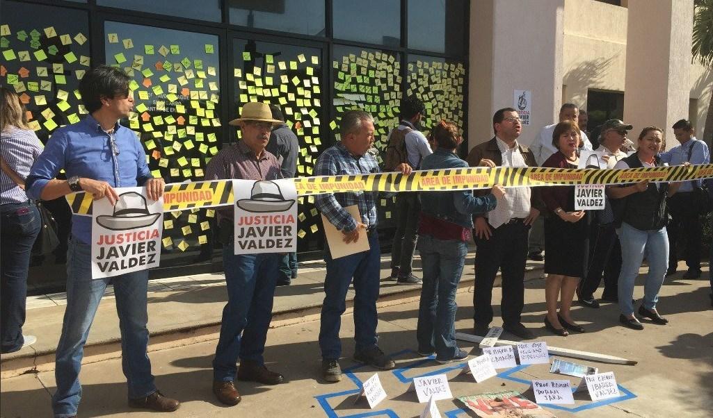 protestan por caso javier valdez cardenas en sinaloa