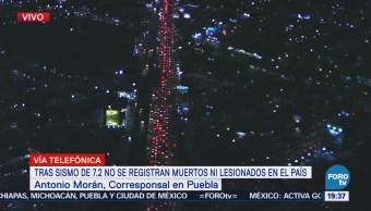Puebla Reporta Saldo Blanco Tras Sismo 7.2 Grados